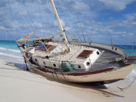 Bahamas Wreck on Beach