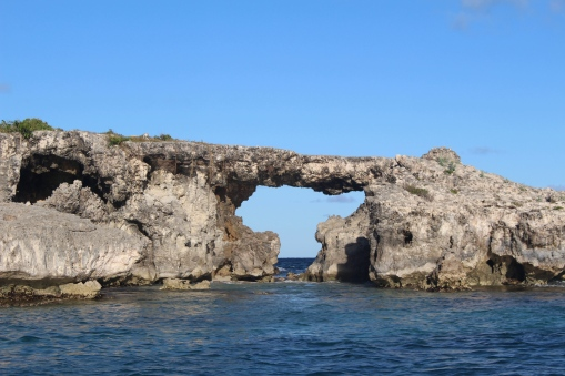 Carib Antigua Rock Bridge