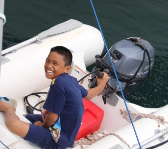 INDO Tual Kid in Dinghy