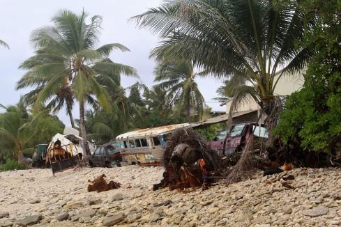 Tuvalu Seawall