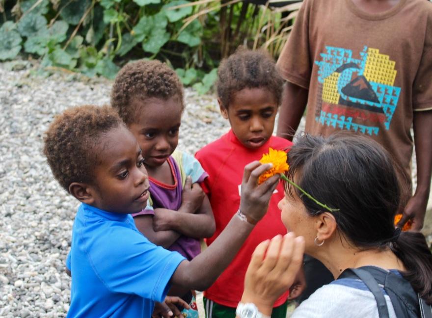 Vanuatu Flower Welcome