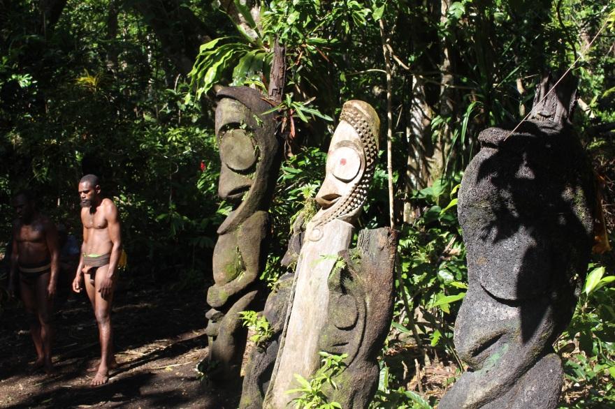 Vanuatu Man with Drums